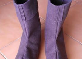 Botas de fieltro para disfraz