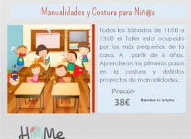 Manualidades y costura para niñ@s (14-15)