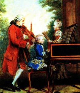 Mozart-con-su-padre-y-hermana