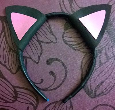 Orejas de gato para disfraz minigranada - Material para hacer diademas ...