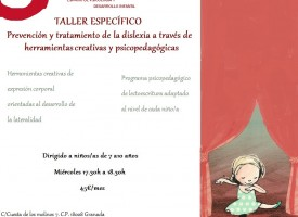 Taller de prevención y tratamiento de la dislexia (14-15)
