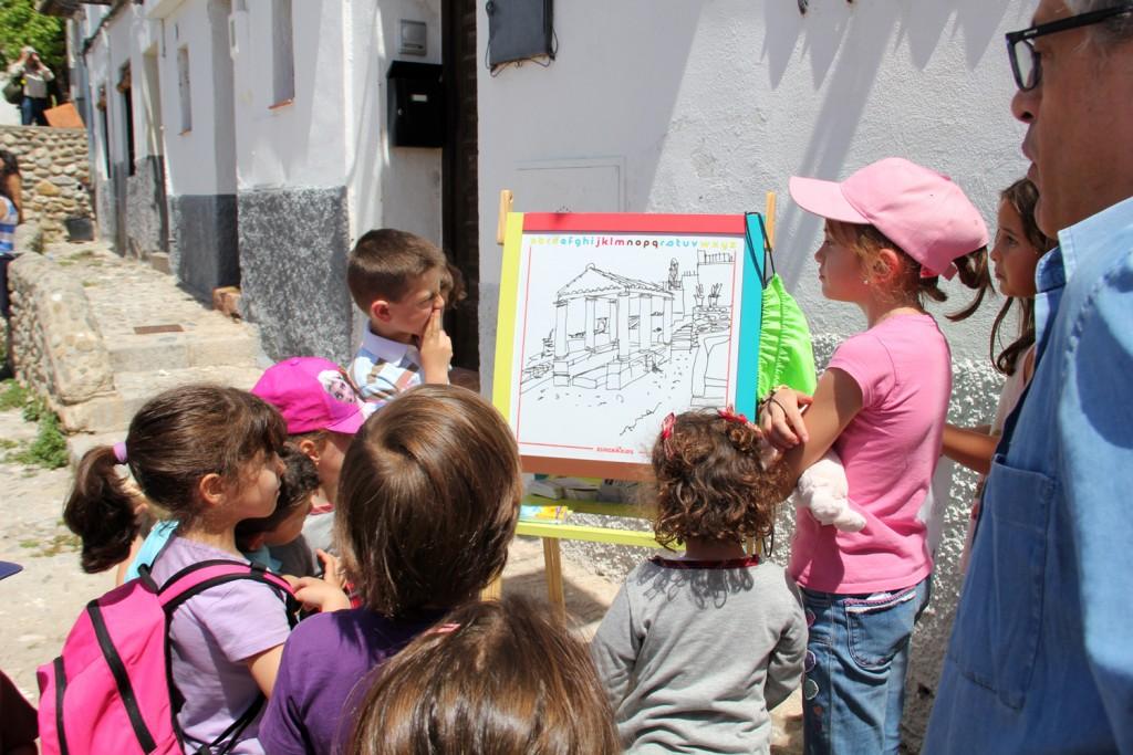 Rubén Garrido comienza su mini-taller sobre la perspectiva. Foto: Eva Penélope