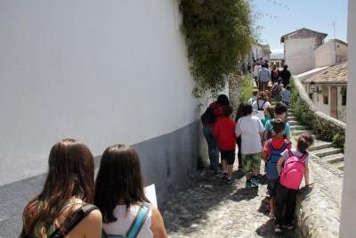 Llegando al Lavadero de la Puerta del Sol. Foto: Eva Penélope