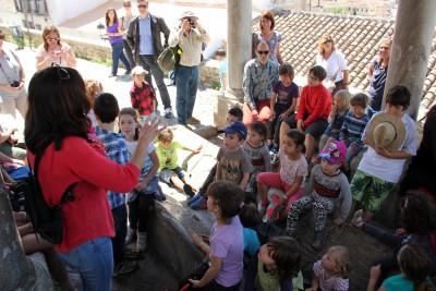 Leonor nos explica algo más sobre el Lavadero y su historia. Foto: Eva Penélope