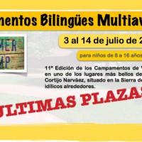 Campamentos bilingües multiaventura – 2015