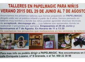 Talleres de verano en PapelMagic – 2015