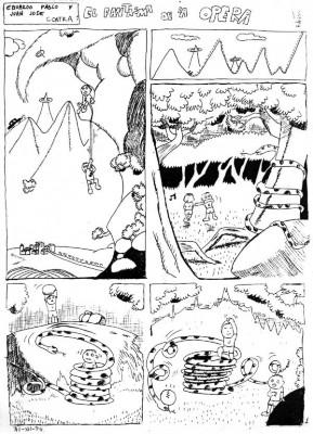 """Con 14 años Rubén Garrido crea """"El fantasma de la Ópera"""", dibujando a los hijos de sus vecinos, Eduardo Pablo y Juan José para entretenerlos, y así surgen la línea de """"mis niños""""."""