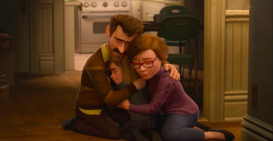 Abrazo en Al Revés ( Pixar 2015)