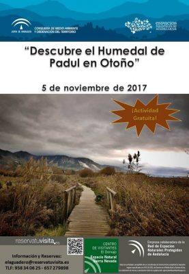 """PADUL - """"Descubre el Humedal de Padul en Otoño"""" @ Aula de la Naturaleza El Aguadero   Padul   Andalucía   España"""