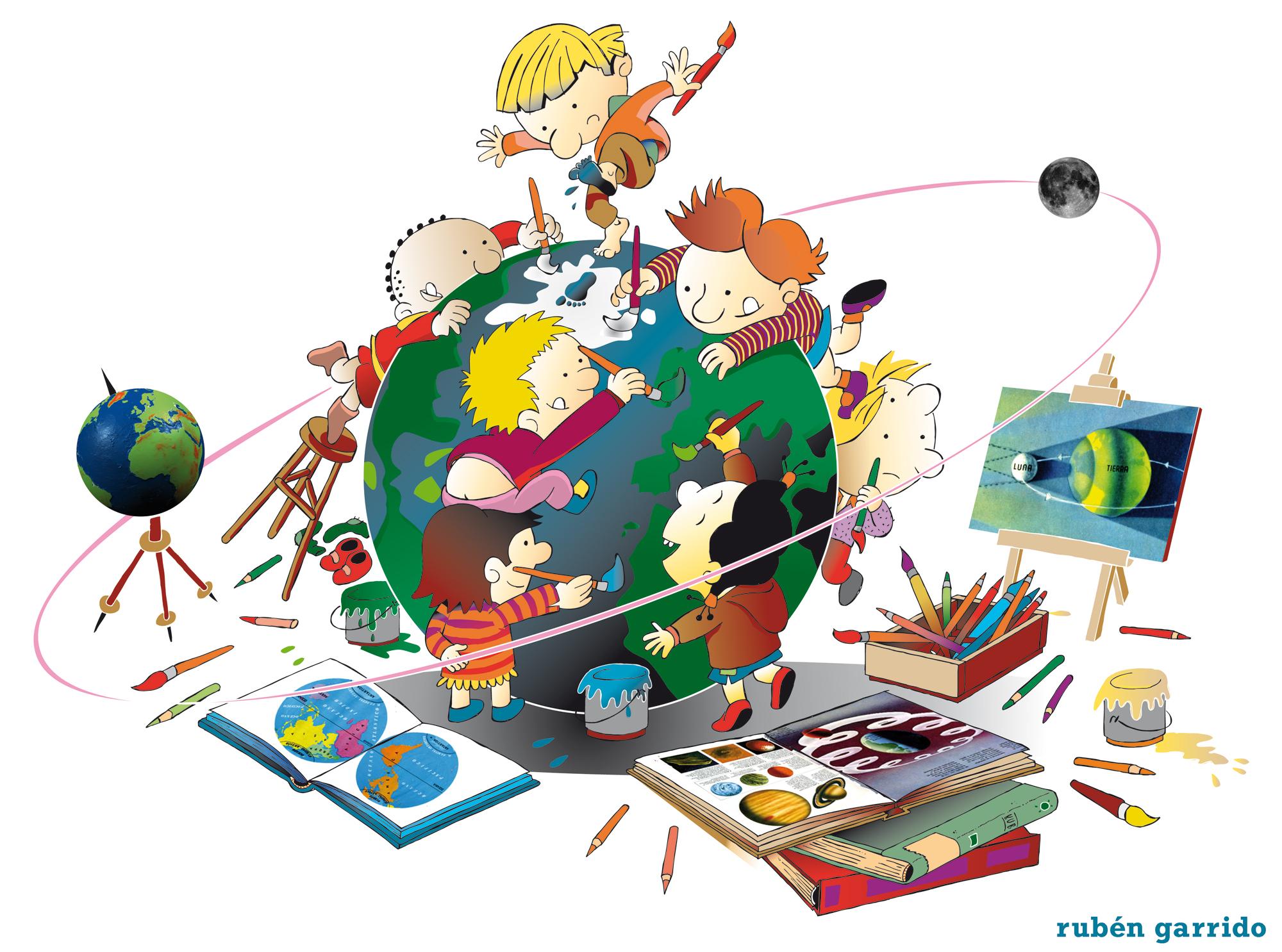 Niños De Paises Para Pintar: Pintando El Mundo