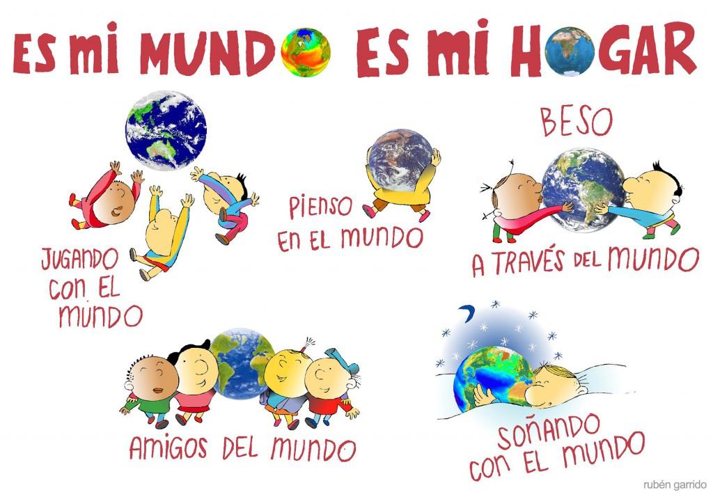 """""""Es mi mundo, es mi hogar"""" Mis niños de Rubén Garrido."""