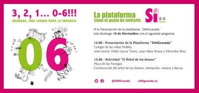 """""""3, 2, 1... 0-6. Una ciudad para la Infancia"""". Presentación de la Plataforma 'Sí 0-6 Granada' @ Plaza de las Pasiegas   Granada   Andalucía   España"""
