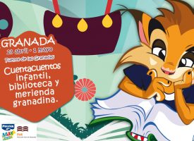 «Niños leen a niños» merendando en la Carpa Puleva-Maritoñi