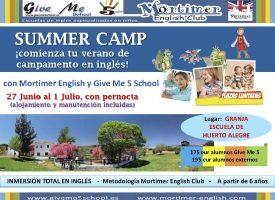 Summer Camp 2016 en Huerto Alegre. Give  me 5 School