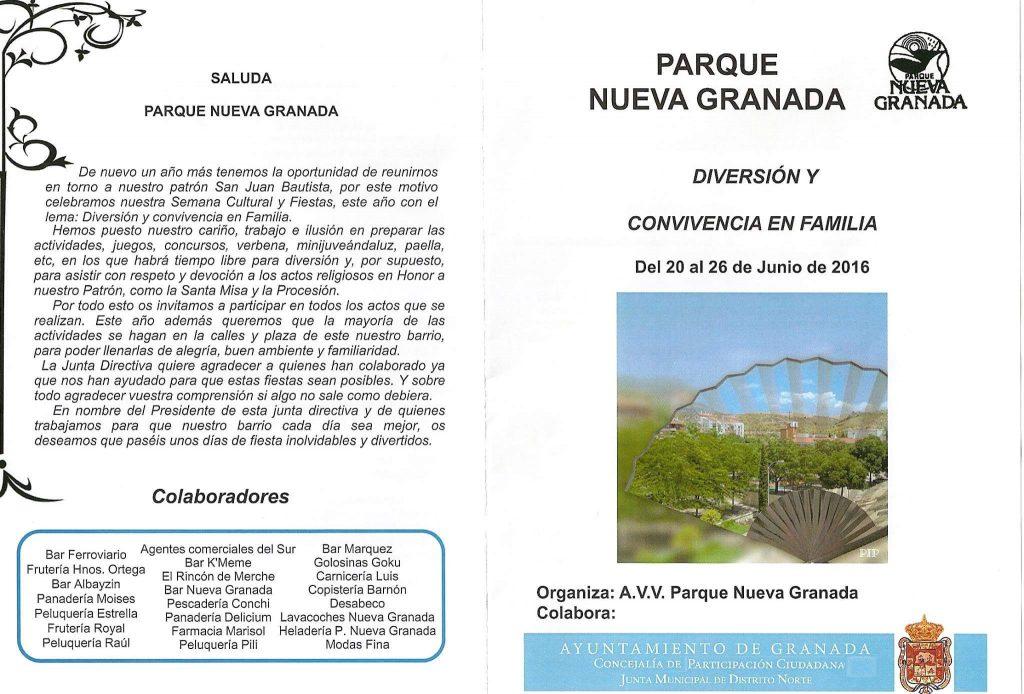 Parque nueva Granada fiestas 2016