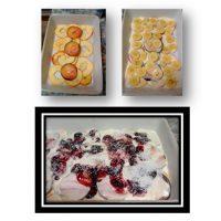 Lasaña de frutas