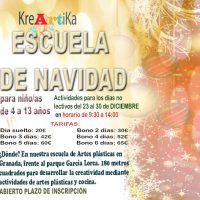 Escuela de Navidad artística con Kreartika 2016