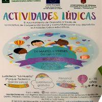 """Actividades lúdicas gratis en """"Ludoteca La Huerta""""- 2017"""