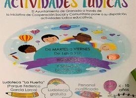 Actividades lúdicas gratis en «Ludoteca La Huerta»- 2017