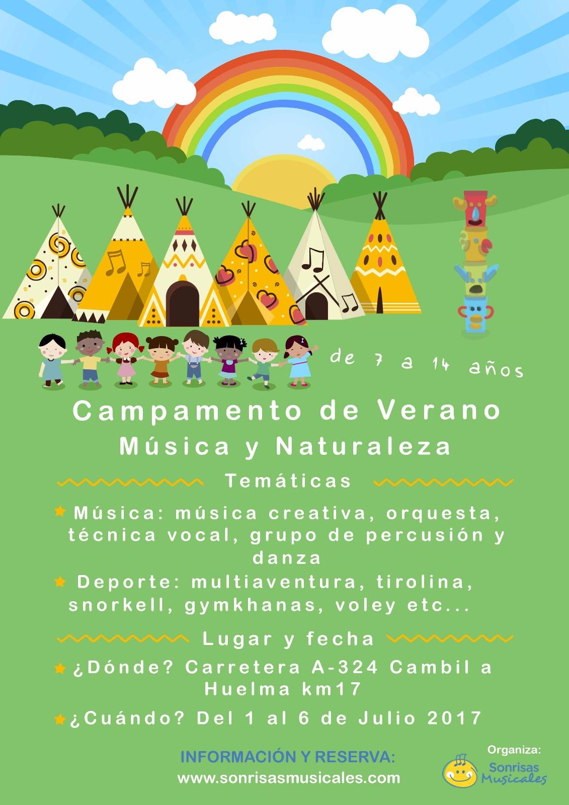Campamentos De Sonrisas Musicales 2017 Elige Naturaleza O Urbano