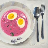 Receta de Chłodnik:  sopa fría de remolacha o gazpacho al estilo polaco