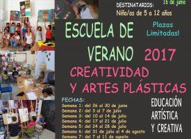"""Escuela de verano """"Creatividad y artes plásticas"""" en Kreártika. 2017"""