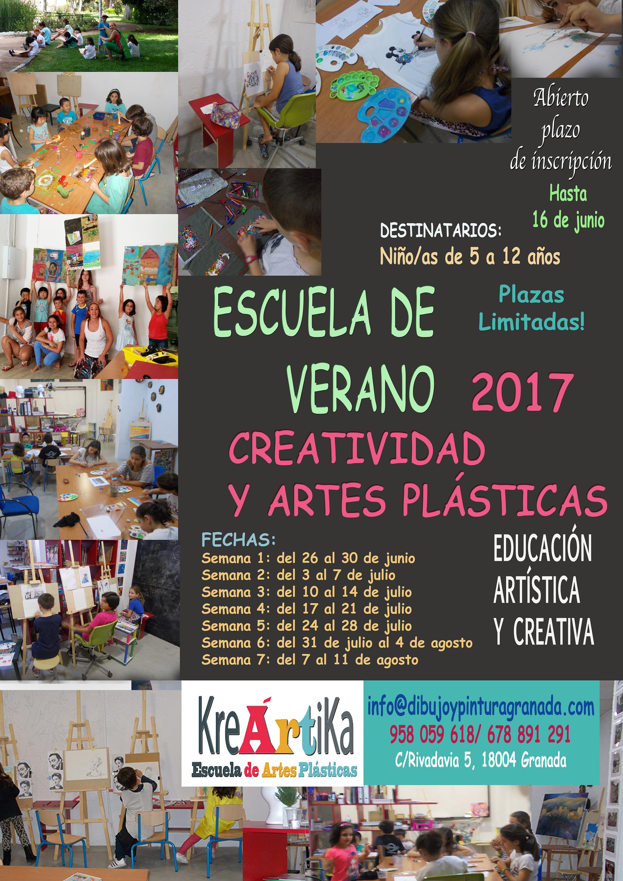 """Escuela de verano """"Creatividad y artes plásticas"""" en Kreártika. 2017 ..."""