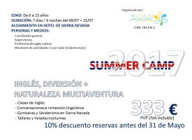 Summer Camp 2.0, 2017 (Granada Incoming Tour)