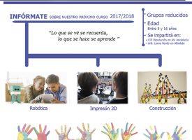 «Preingeniería civil para niños» (robótica, impresión 3D y construcción) con Mindlab Formación (17-18)