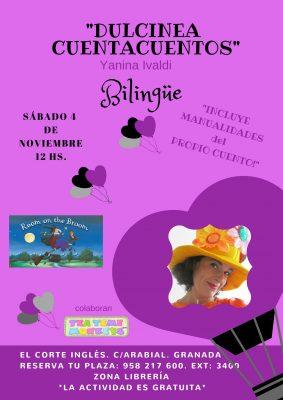 """Dulcinea Cuentacuentos: """"Room on the Broom"""" @ C.C. El Corte Inglés - Arabial   Granada   Andalucía   España"""