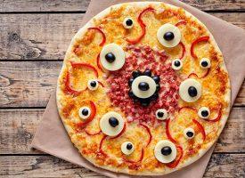 Recetas de pizzas terroríficas para Halloween