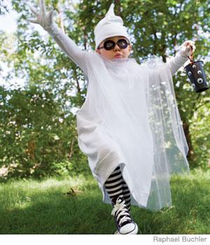 Disfraces caseros de fantasma para nios y nias en Halloween