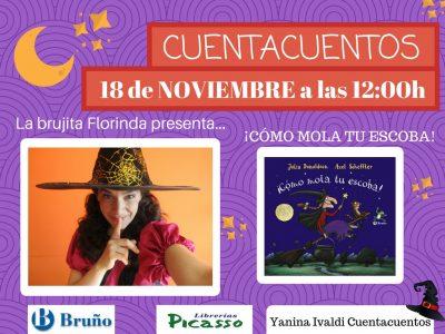 """Cuentacuentos La brujita Florinda presenta... """"Como mola tu escoba"""" @ Librería Picasso Infantil   Granada   Andalucía   España"""