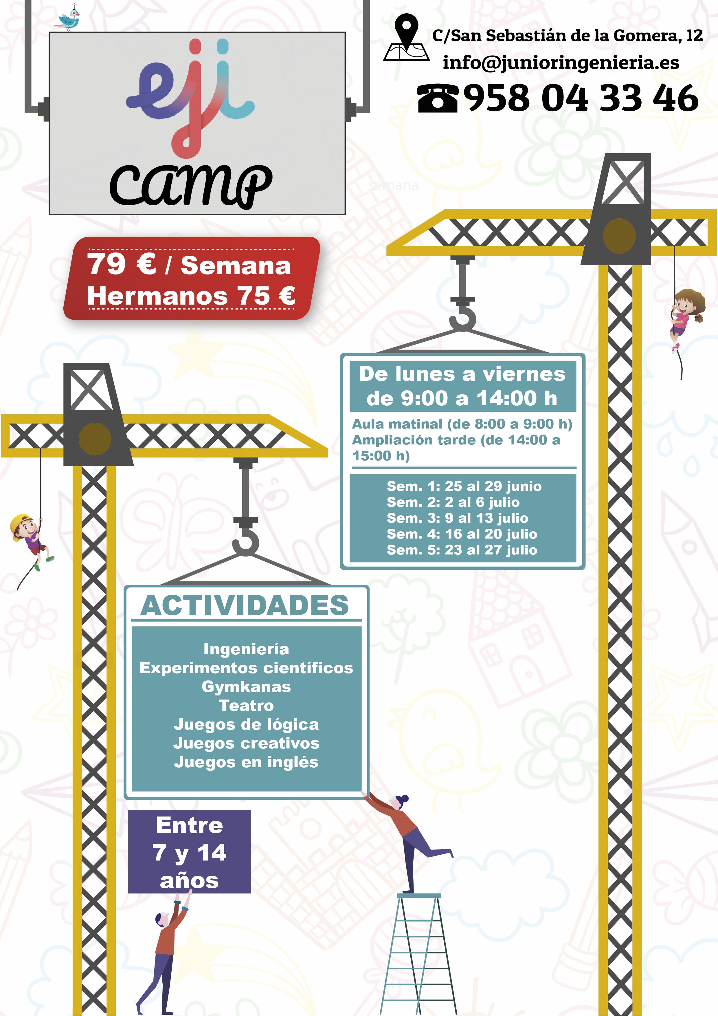 Eji Camp 2018 Un Campamento De Verano Con Ingenieria Y Juegos De