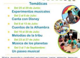 «Campamento urbano Música y Creatividad» con Sonrisas Musicales – 2018