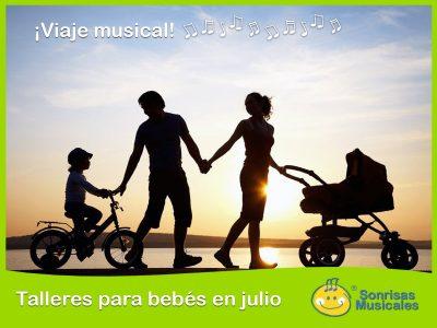 Talleres musicales para bebés en julio, con Sonrisas Musicales – 2018