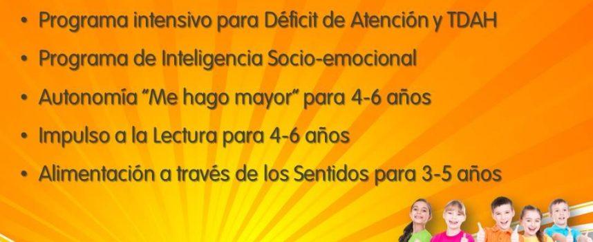 Talleres de verano con Centro Nedea 2018: déficit de atención y TDAH, autonomía, lectura, alimentación e inteligencia social-emocional