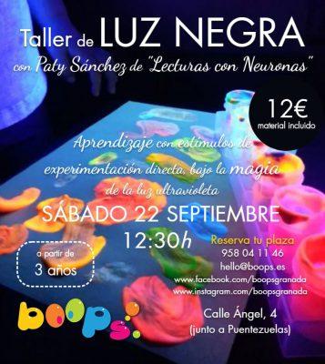 Taller de luz negra @ Librería Boops | Granada | Andalucía | España