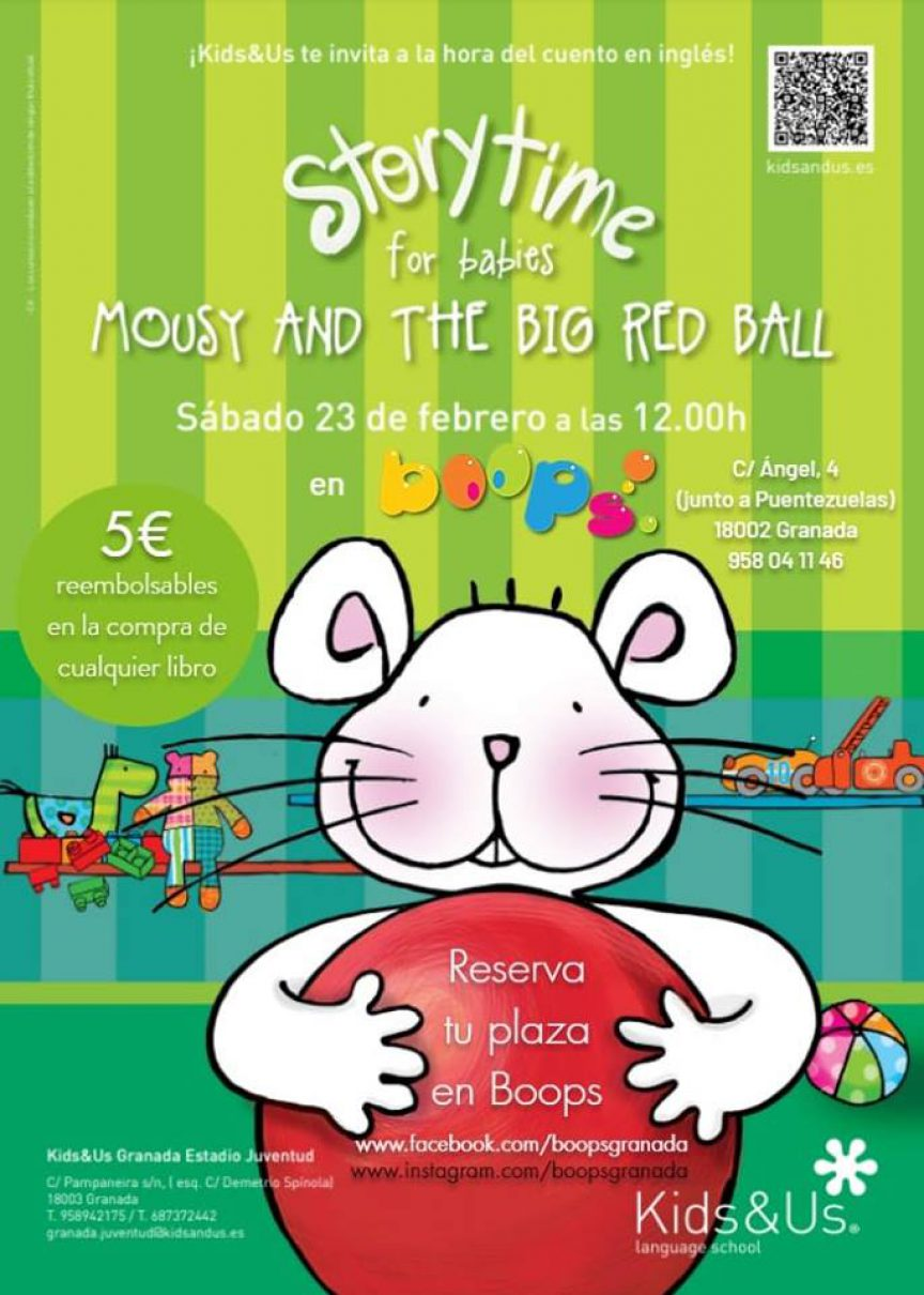 Storytime for babies «Mousy and the big red ball»